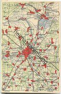 Wona-Landkarten-Ansichtskarte 43-53 - Cottbus - Verlag Wona Königswartha - Cottbus