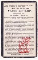 DP Alice Schaep ° Westkerke Oudenburg 1891 † Bekegem Ichtegem 1913 X Philibert Storme - Devotion Images