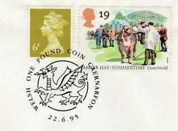 1995 CAERNARVON Welsh  DRAGON  EVENT COVER  GB Stamps Coin Mythology - Mythology