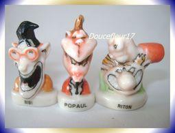 Tronche De Cake .. 3 Fèves: Bibi, Popaul, Riton ... Ref AFF : 13-1997... (pan 0028) - Personnages