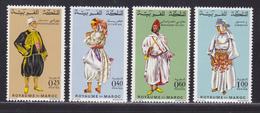 MAROC N°  565 à 568 ** MNH Neufs Sans Charnière, TB (D6268) Costumes - 1968 - Maroc (1956-...)