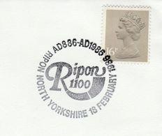 1986 RIPON 1100 AD86 AD1986   EVENT COVER GB  Stamps - 1952-.... (Elizabeth II)