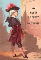 Chromo - Calendrier 1882 (janvier à Juin) - AU MUSEE DE CLUNY - Calendriers