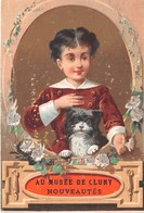 Chromo - Calendrier 1882 (janvier à Juin) - AU MUSEE DE CLUNY - Petit Format : ...-1900