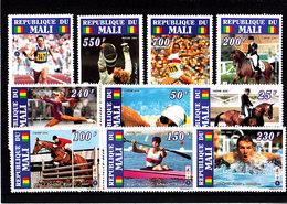 Olympics 1996 - Equestrian - MALI - Set 10v MNH** - Summer 1996: Atlanta