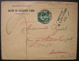 1911 Rochefort Sur Mer Lettre à En Tête De La Mairie Avec Retour à L'envoyeur - Marcophilie (Lettres)