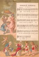 Chromo - Calendrier 1883 - NOUVEAUTES - Giroflé, Girofla - Calendriers
