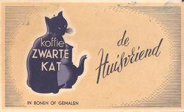 Koffie Zwarte Kat De Huisvriend Buvard Vloeipapier Café Chat Noir - Kaffee & Tee