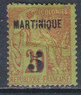 Martinique N° 1 X  5  Sur 20 C. Brique Sur Vert Trace De Charnière, 1 Dent Courte Sinon TB - Unclassified