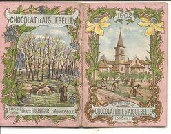 CHOCOLAT D'AIGUEBELLE . MINI CARNET PUB + CALENDRIER 1902 - Calendriers