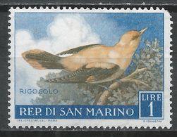 San Marino 1960. Scott #446 (M) Birds' Golden Oriole * - Saint-Marin