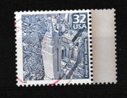 USA: Empire State Building à New-York, 32c Bleu, Oblitéré - Vereinigte Staaten