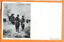 P211, Pendant La Halte, E. Chaperon, Soldats, Cheval, Précurseur, Non Circulée - Militaria