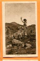 P212, S. Bruzzi, La Pecoraia, Bergère Et Ses Moutons, Brebis, Mouton, Berger, 1011, Anderson Circulée 1918 - Landbouw