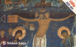 TARJETA TELEFONICA DE SERBIA, Fresco, Studenica Monastery. RS-TKS-0076. (263) - Yugoslavia