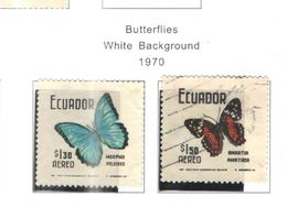 Ecuador PA 1970 Farfalle   Scott.C463+464+ See Scans On Scott.Page+ - Ecuador