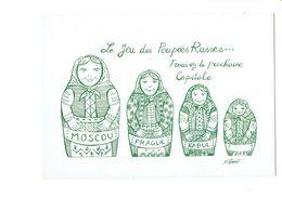 Cpm - Devinette Le Jeu Des Poupées Russes - Illustration B. VINCENT - Poupée Afghanistan KABUL MOSCOU RUSSIE PRAGUE - Russia