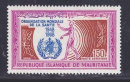 MAURITANIE AERIENS N°   77 ** MNH Neuf Sans Charnière, TB (D6276) OMS, Organisation Mondiale De La Santé - Mauritanie (1960-...)