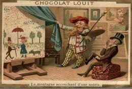 CHROMO CHOCOLAT LOUIT LA MONTAGNE ACCOUCHANT D'UNE SOURIS PEINTRE - Louit