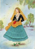 CALABRIA-COSTUME REGIONALE RICAMATO - Costumes