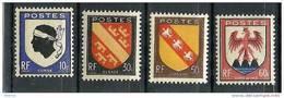 """FR YT 755 à 758 """" Armoiries Des Provinces """" 1946 """" Neuf** - France"""
