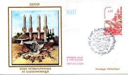 Enveloppe Avec Cachet L'art Lyrique Et Gastronomie  - DIJON 21 - Le 03/12/1983 - Wein & Alkohol