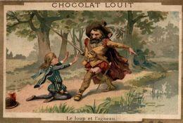 CHROMO CHOCOLAT LOUIT LE LOUP ET L'AGNEAU - Louit