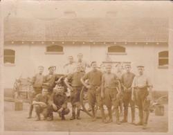 ARGENTINE. REGIMIENTO 1° ARTILLERIA MONTADA CLASE 1909 TOMADA EN 1930 BATERIA SIGNEE AU DOS ORIGINAL PHOTO-TBE-BLEUP - War, Military