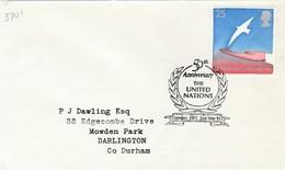 1995   GB FDC The UNITED NATIONS 50th Anniv Un Europa Stamps Cover - UNO