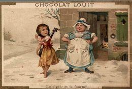 CHROMO CHOCOLAT LOUIT LA CIGALE ET LA FOURMI - Louit