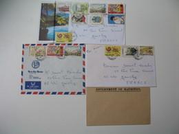 Lettre  Lot De  4 Mauritius  Ile Maurice  Pour La France Dont 1 Government OF Mauritius   à Voir - Maurice (1968-...)
