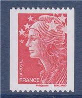 = Type Marianne De Beaujard TVP Rouge De Roulette Neuf Gommé N°4240 Et Numéro 334 Noir à Gauche Au Verso - Roulettes