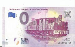°  Billet  2018 CHEMIN DE FERDE LA BAIE  SOMME   °  BILLET   SOUVENIR TOURISTIQUE  ° N° 725 PORT GRATUIT POIR LA FRANCE - EURO