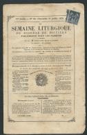 Semaine Liturgique De Poitiers , Affranchie Tarif Imprimé En 1878 Par Yvert N°83  - Lh14002 - Tariffe Postali