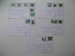 Lettre  Lot De  5  -  Seychelles  Pour La France  Thème Des Timbres Les Oiseaux  Les Animaux  à Voir - Seychelles (1976-...)