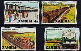 Zm0253 ZAMBIA 1976, SG 253-6 Opening Of Tanzania-Zambia Railway (TAZARA),  MNH - Zambia (1965-...)