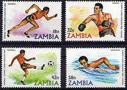 Zm0311  ZAMBIA 1980, SG311-4, Olympic Games,  MNH - Zambia (1965-...)