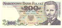 Poland - Pick 144  - 200 Zlotych 1988 - AUnc - Polonia