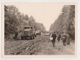 26511 Huit 8 Photo Belgique Belgie -Francorchamps Spa Malchamps -deboisement Tracteur Travaux Boom Foret 1962 Arbre - Lieux