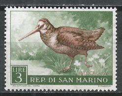 San Marino 1960. Scott #448 (M) Birds' Woodcock * - Saint-Marin
