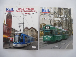 TRAINS : BALE  SUISSE - TRAMS SANS FRONTIERES 'SUISSE - FRANCE  - ALLEMAGNE) LOT 2 DVD - Documentaires