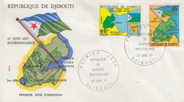 Enveloppe  FDC  1er  Jour   DJIBOUTI    Indépendance   1977 - Djibouti (1977-...)
