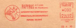 Egypte, Papyrus, Papier, Imprimerie, Tourcoing - EMA Secap -devant D'enveloppe  (V044) - Affrancature Meccaniche Rosse (EMA)