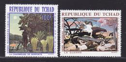 TCHAD AERIENS N°   47 & 48 ** MNH Neufs Sans Charnière, TB (D6286) Tableaux D'Henri Rousseau - Tschad (1960-...)