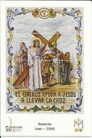 Gandia. Semana Santa. Estaciones Del Calvario De Jesús. El Cirineo Ayuda A Jesús A Llevar La Cruz. - Saints
