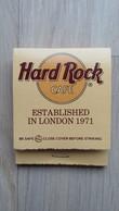 """Zündholzheftchen Vom """"Hard Rock Cafe"""" - Zündholzschachteln"""