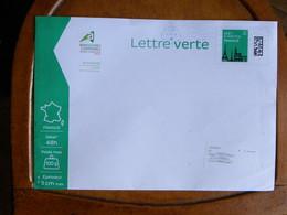 PAP Pret à Poster  Lettre Verte 100g  Ayant Circulé En-tête Chambre D'Agriculture De La Creuse Lot 119714 - Entiers Postaux