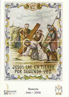 Gandia. Semana Santa. Estaciones Del Calvario De Jesús. Jesús Cae En Tierra Pos Segunda Vez. - Santos