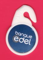 JETON DE CADDIE Nouvelle Forme - Banque EDEL - Distribué Par LECLERC - Jetons De Caddies