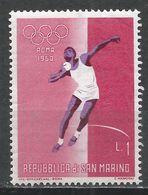 San Marino 1960. Scott #456 (M) Olympic Games, Rome, Shot Put * - Saint-Marin